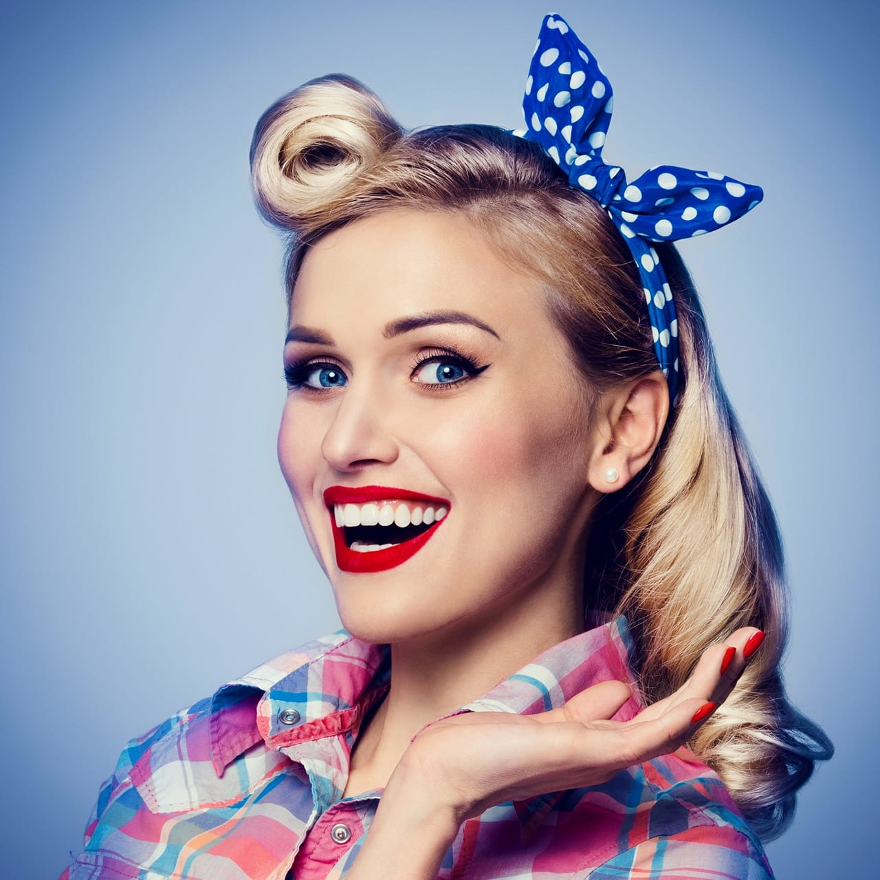 young woman dressed in pin-up style